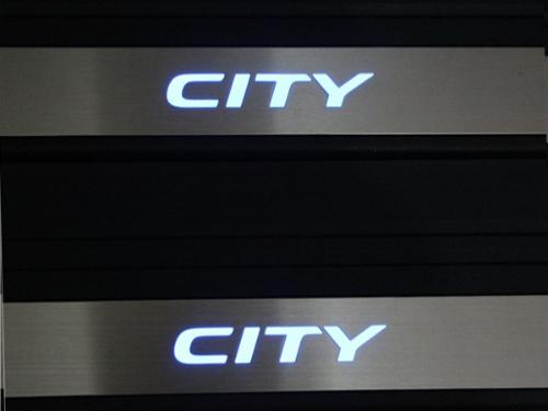 Door sill plate (pelindung pintu) Honda City OEM Black dengan LED