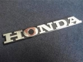 Emblem tulisan honda ukuran 16x2 cm