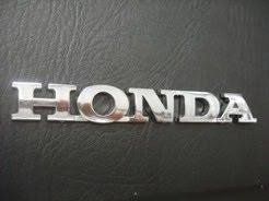 Emblem tulisan Honda