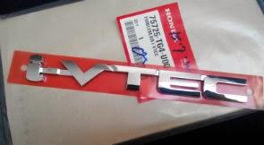 Emblem i-vtec untuk HONDA BRIO