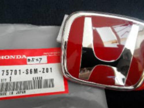 Red Emblem HONDA size 8.5x7