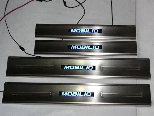 Door sill plate (pelindung pintu) Honda Mobillio dengan LED